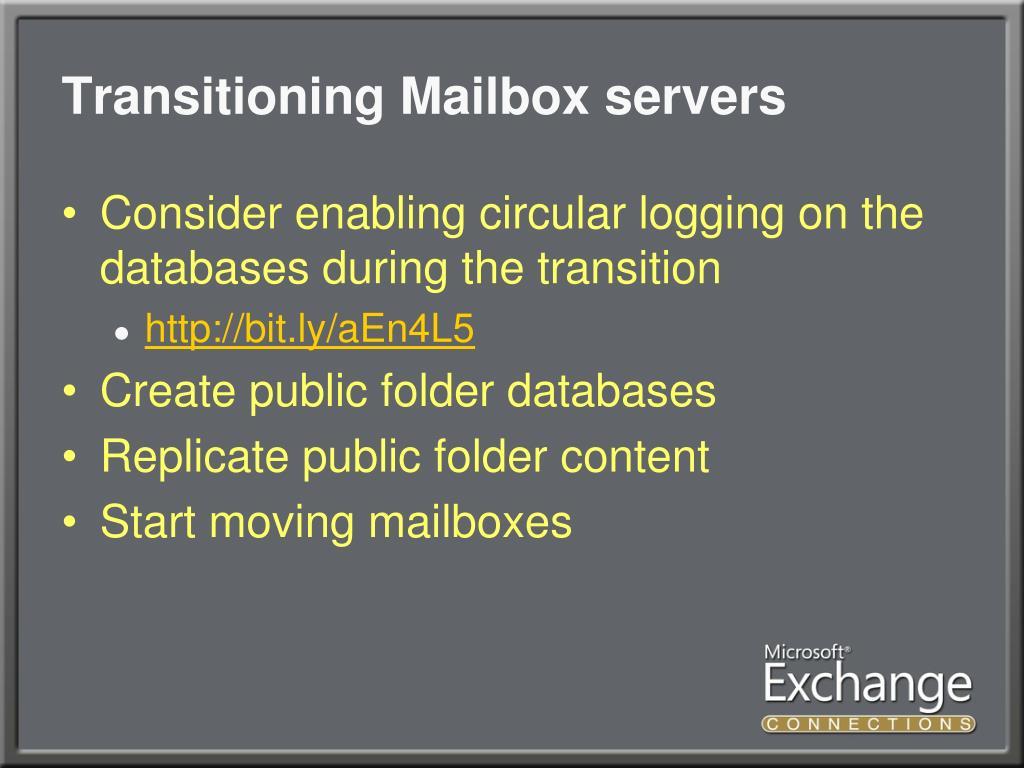 Transitioning Mailbox servers