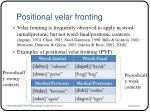 positional velar fronting