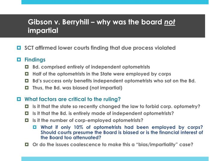 Gibson v. Berryhill – why was the board