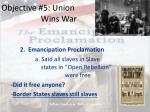 objective 5 union wins war2