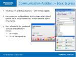 communication assistant basic express