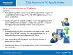 dial from any pc application