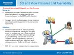 set and view presence and availability