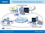 tde100 200 office network solution