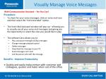 visually manage voice messages45