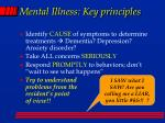 mental illness key principles