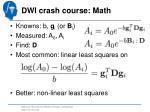 dwi crash course math