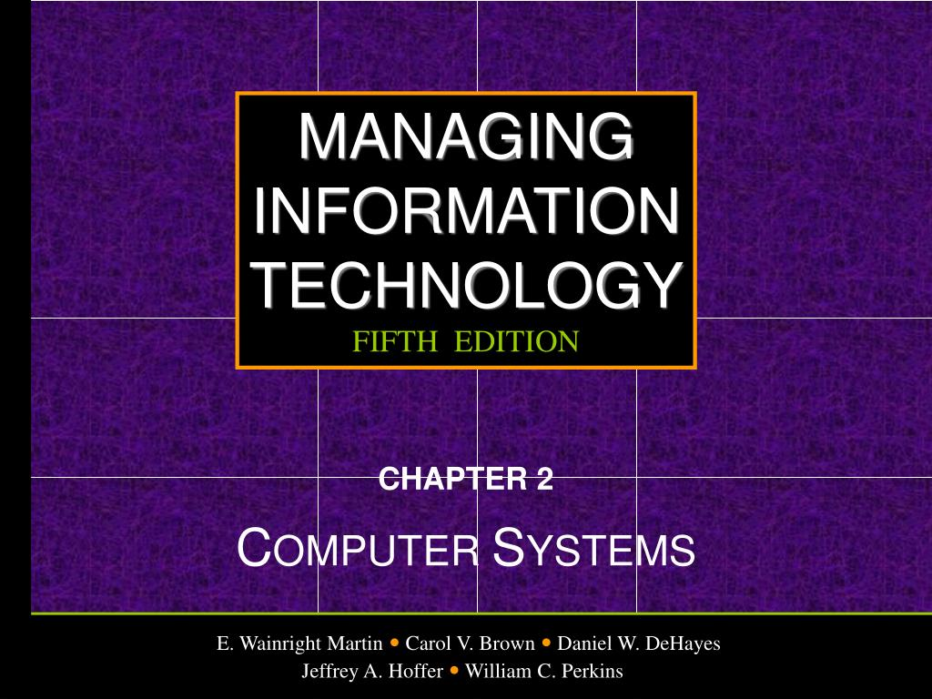 chapter 2 c omputer s ystems