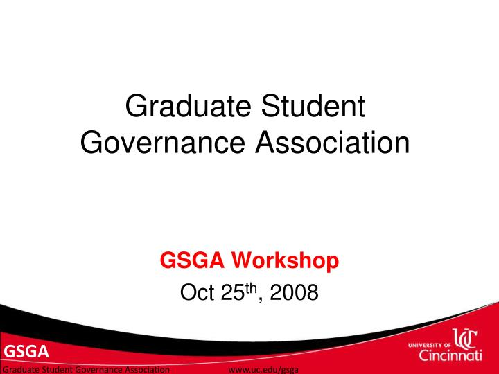 graduate student governance association n.