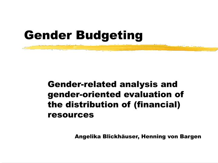ppt gender budgeting powerpoint presentation id 990680