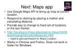 next maps app