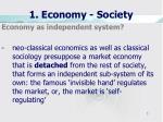 1 economy society