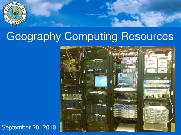 Geography computing resources