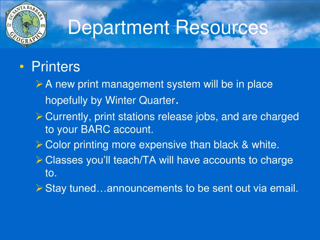 Department Resources