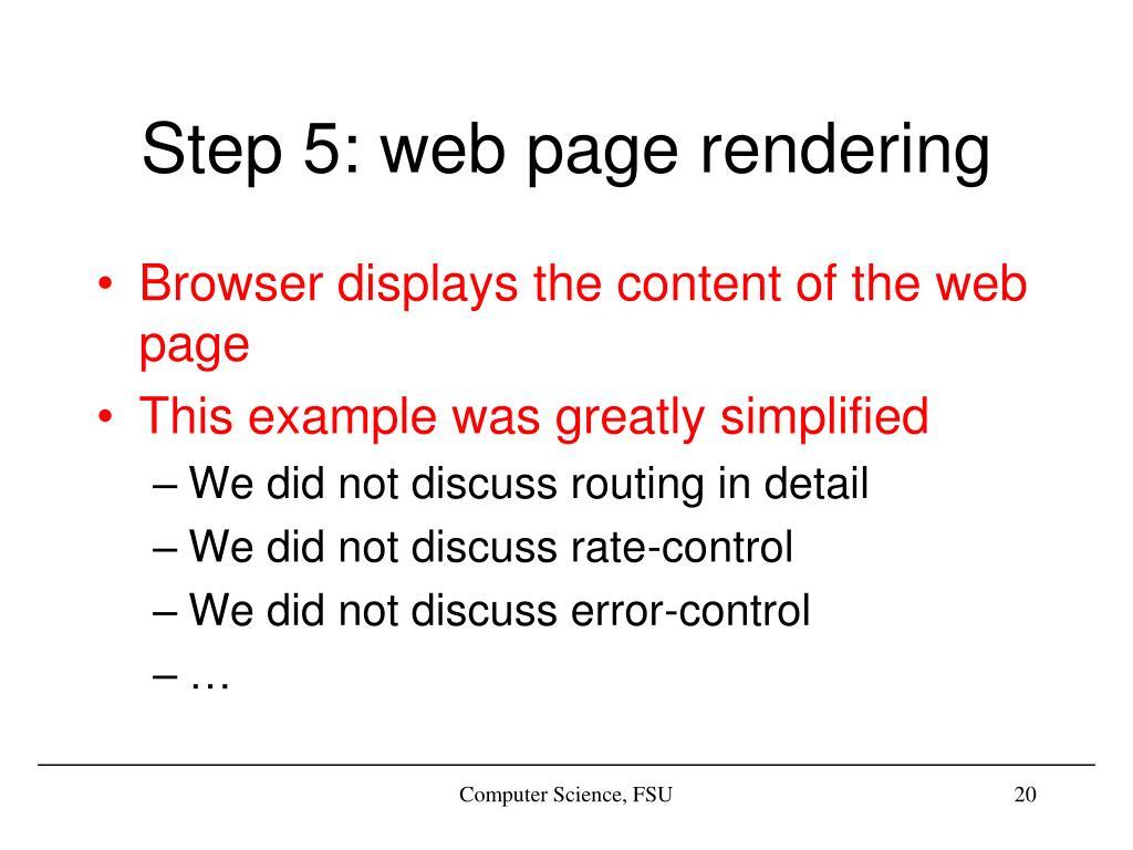 Step 5: web page rendering