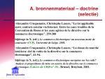 a bronnenmateriaal doctrine selectie7