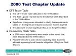 2000 test chapter update