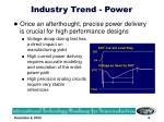 industry trend power