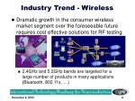 industry trend wireless