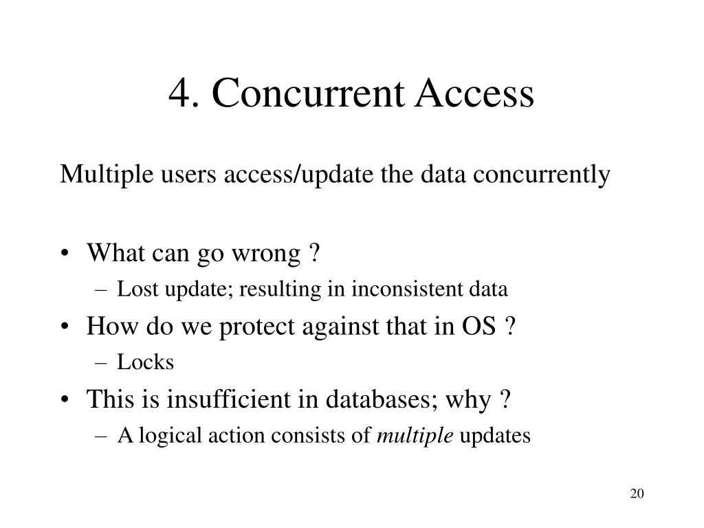 4. Concurrent Access