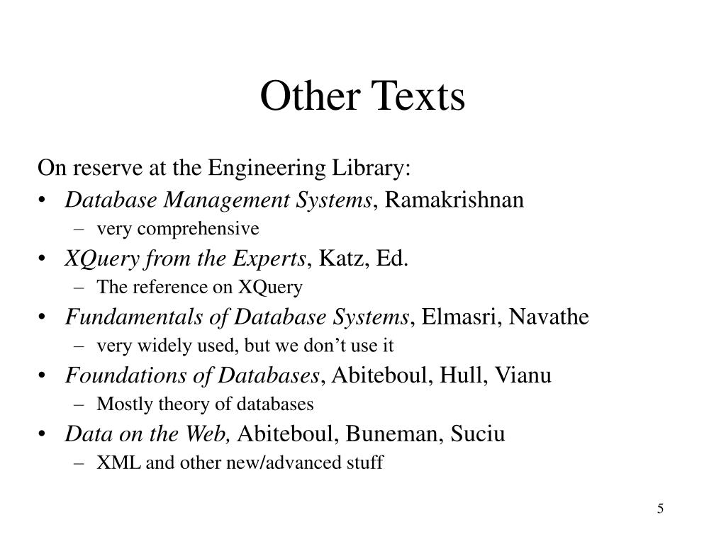 Other Texts