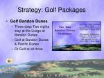 strategy golf packages