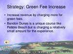 strategy green fee increase
