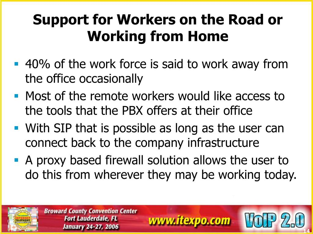 Support for Workers on the Road or Working from Home