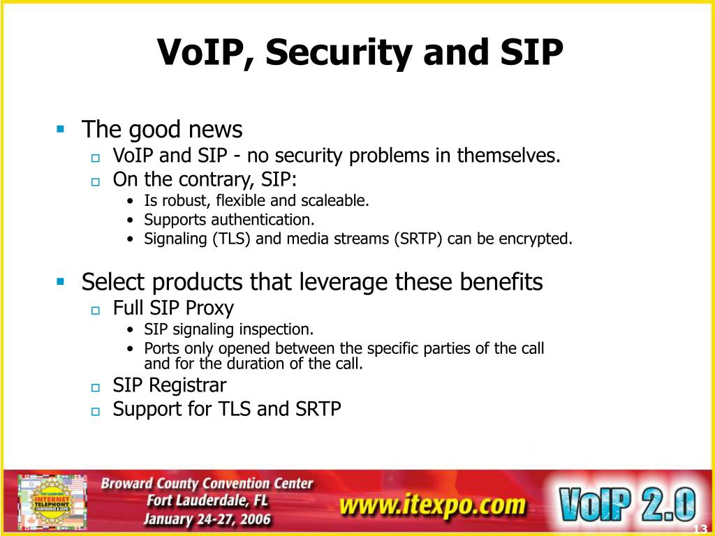 VoIP, Security and SIP