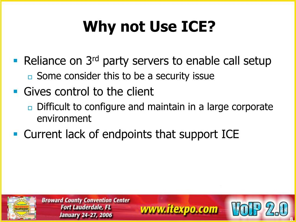 Why not Use ICE?