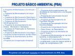 projeto b sico ambiental pba1