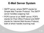e mail server system
