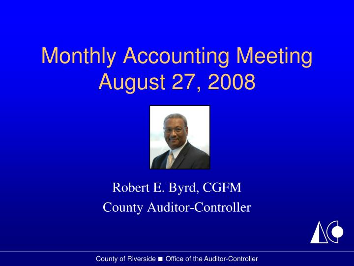 monthly accounting meeting august 27 2008 n.