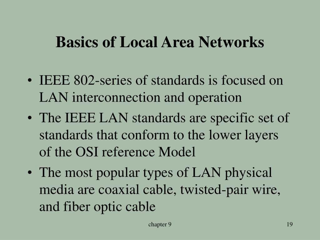 Basics of Local Area Networks