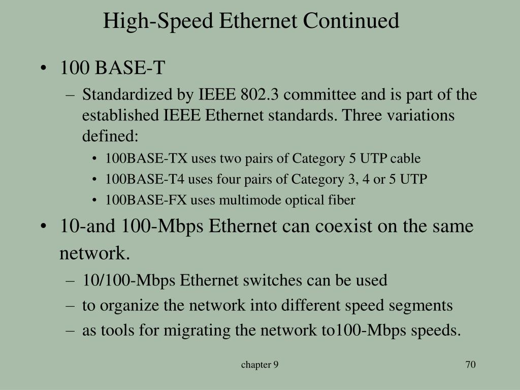 High-Speed Ethernet Continued