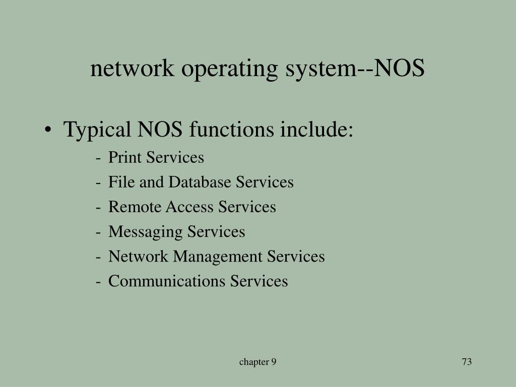 network operating system--NOS
