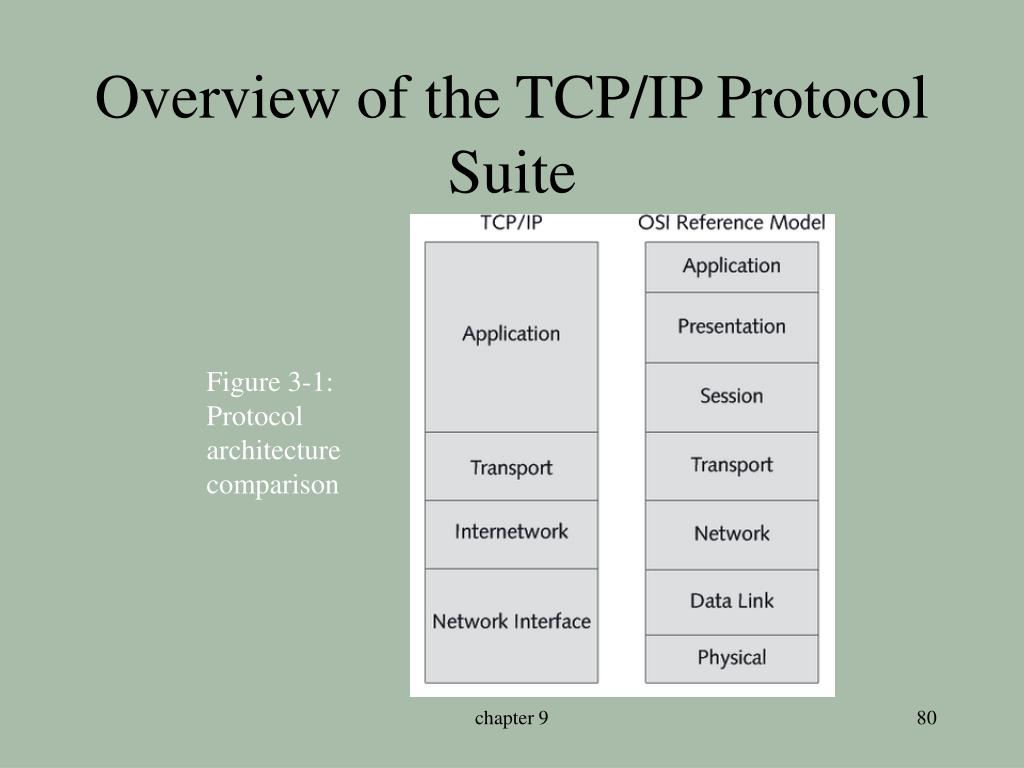 Overview of the TCP/IP Protocol Suite