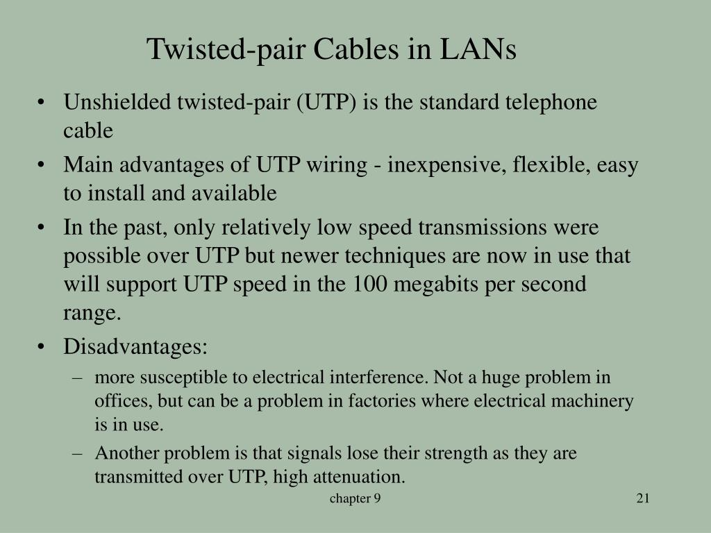 Twisted-pair Cables in LANs
