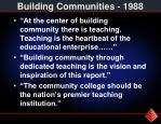 building communities 1988