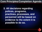 core principles completion agenda4