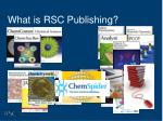 what is rsc publishing