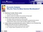 economic analysis why are there so many summer blockbusters