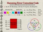 hamming error correction code