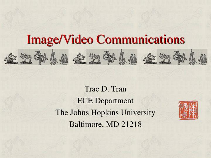 Image video communications