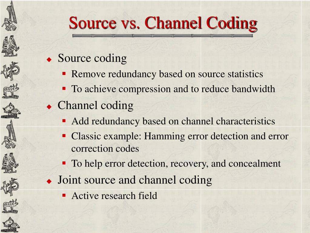 Source vs. Channel Coding