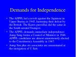 demands for independence