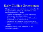 early civilian government