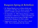 rangoon spring rebellion