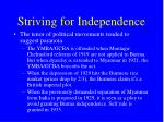 striving for independence