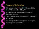 events of initiation